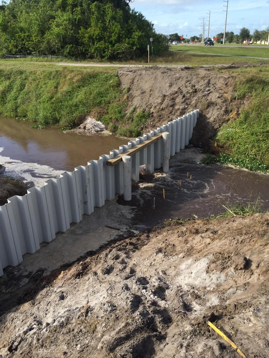 Weir Wall South Sarno Drainage Improvements Custom Built